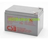 Batería para UPS-SAI 12v 12Ah plomo AGM HR1251W CSB